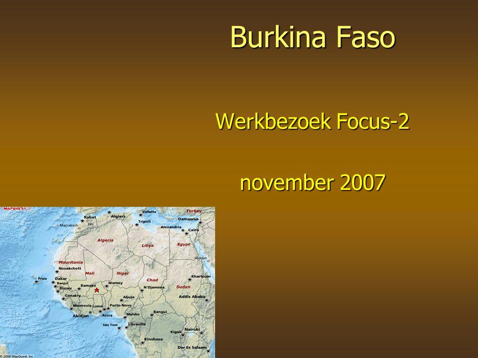Burkina Faso Werkbezoek Focus-2 november 2007