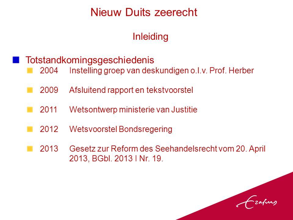 Inleiding Totstandkomingsgeschiedenis 2004Instelling groep van deskundigen o.l.v.