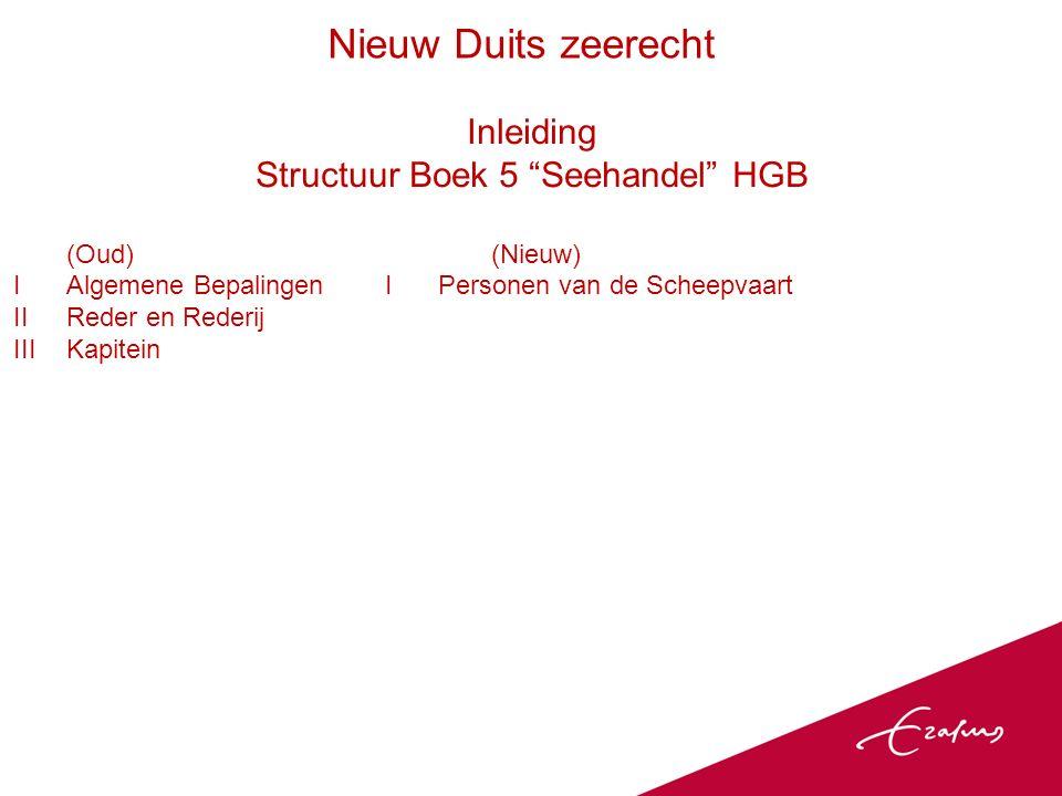 Ambivalentie Voorbeelden Aansprakelijkheidsperiode zeevervoerder: van inontvangstneming tot aan aflevering van de goederen ( Obhut ), (§ 498 HGB) Zo ook Hamburg Rules en RR en algemeen deel Duits vervoerrecht.