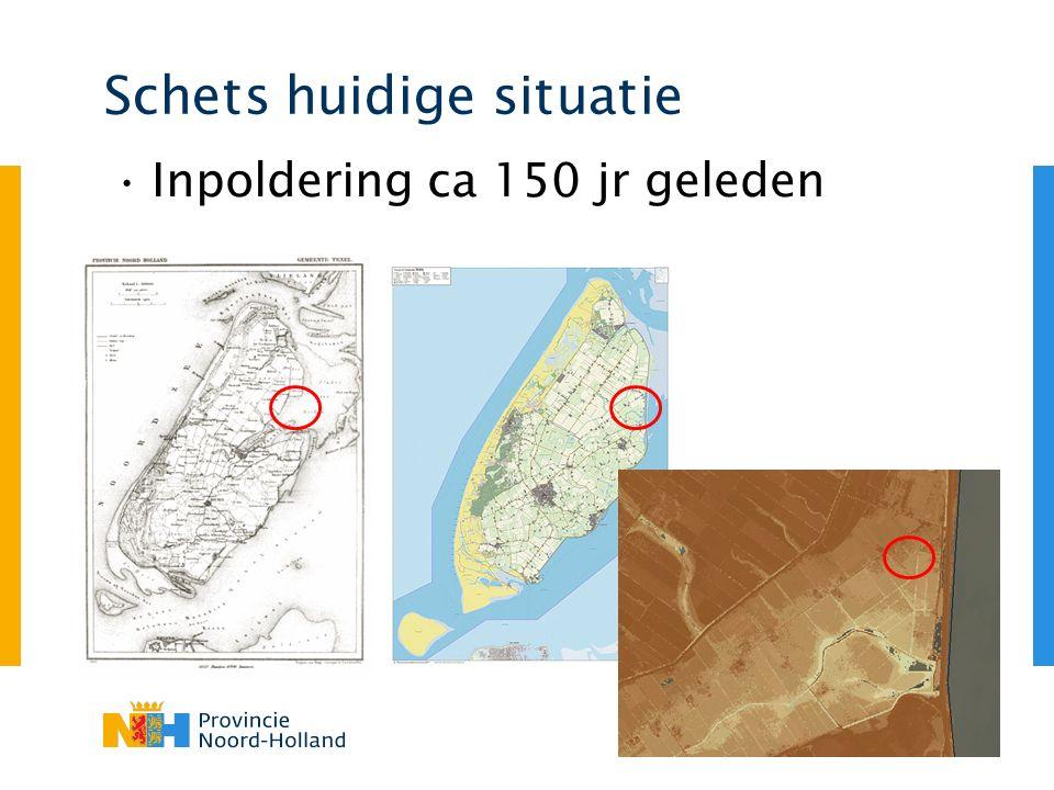 Schets huidige situatie Nieuwe drain Oude drain 0.3 m 0.2 m >2m drain in schelpenbed klei zand zand (bouwvoor)