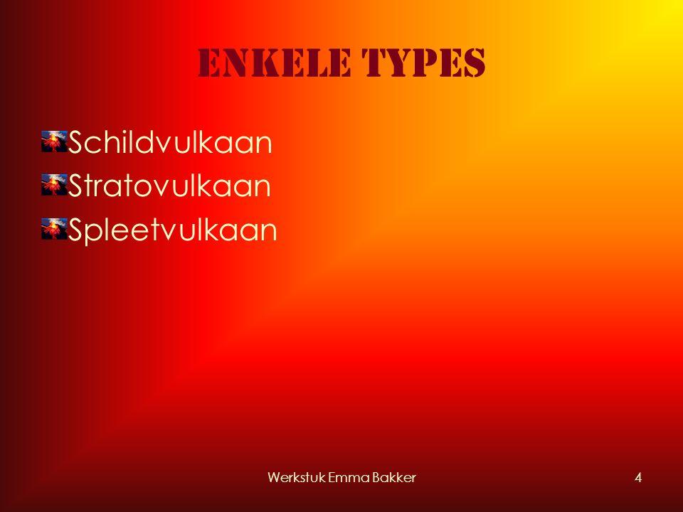 Werkstuk Emma Bakker4 Enkele types Schildvulkaan Stratovulkaan Spleetvulkaan