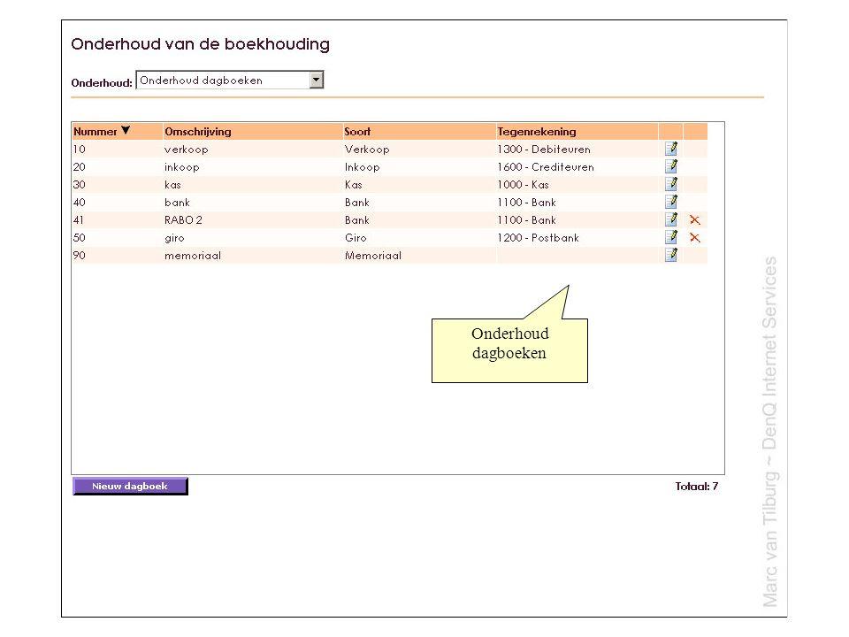 Onderhoud BTW Codes