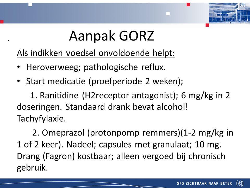 Titel Aanpak GORZ Als indikken voedsel onvoldoende helpt: Heroverweeg; pathologische reflux.