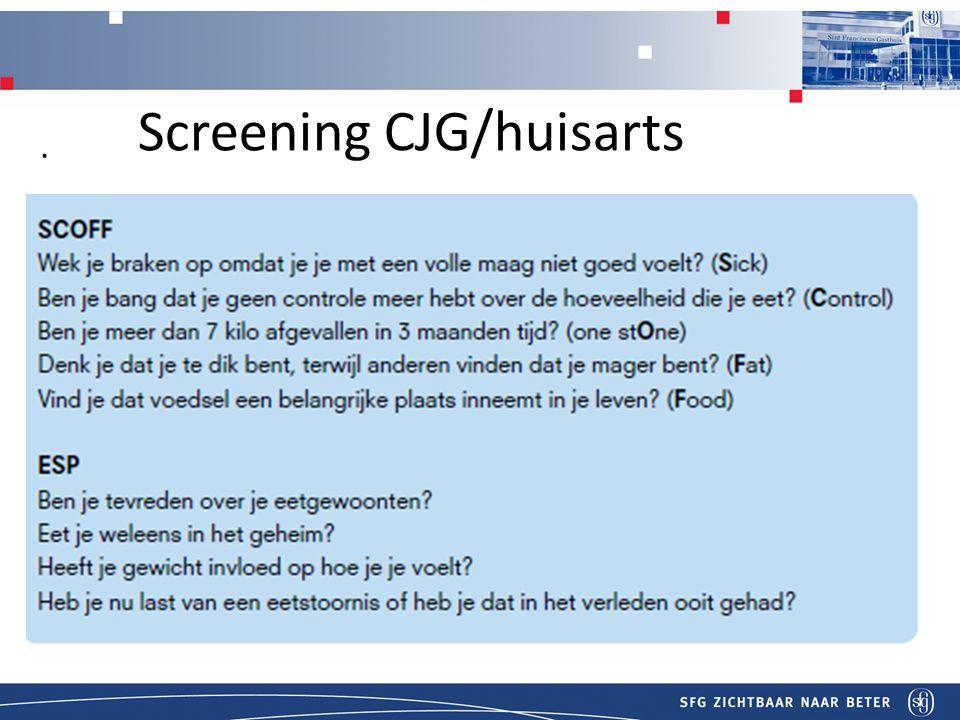 T Screening CJG/huisarts.