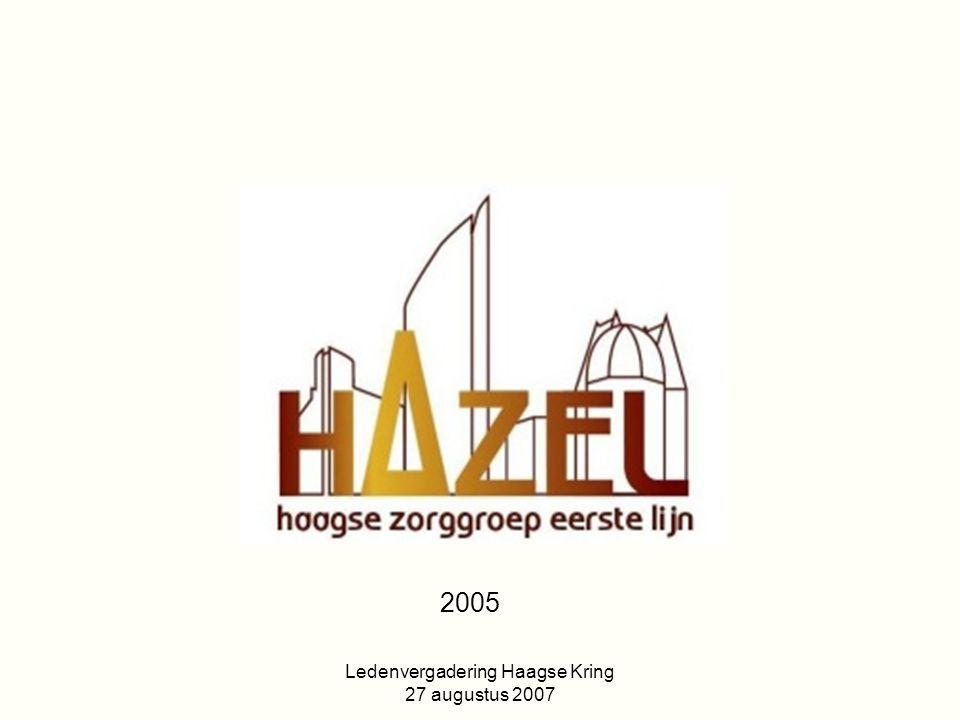 Ledenvergadering Haagse Kring 27 augustus 2007 Visie: De zorg voor patiënten met DM vraagt een multidisciplinaire aanpak ingebed in de eerste lijn onder regie van de eigen huisarts.