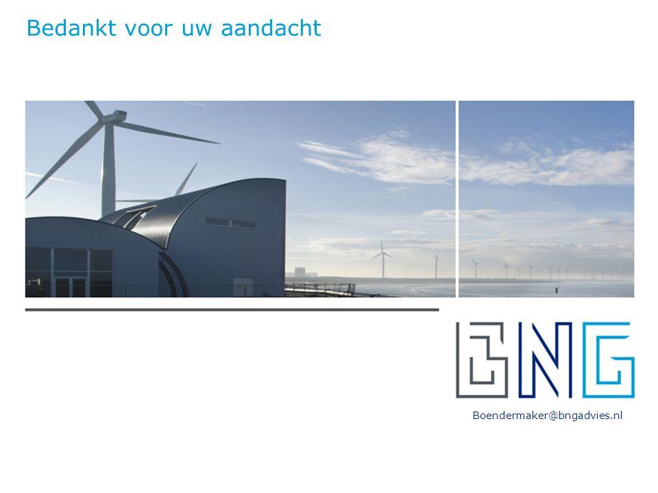 Boendermaker@bngadvies.nl Bedankt voor uw aandacht