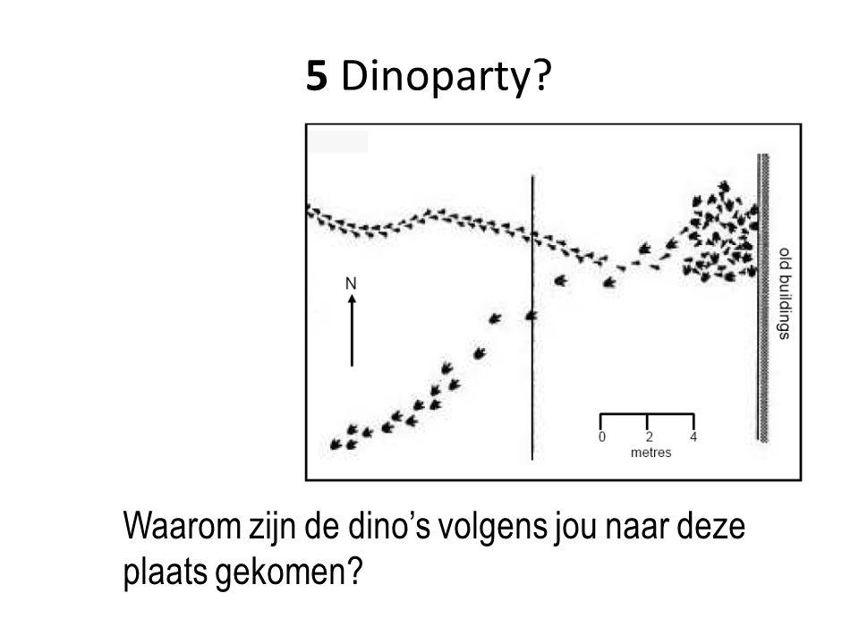 5 Dinoparty Waarom zijn de dino's volgens jou naar deze plaats gekomen