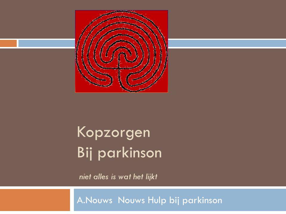 Parkinson depressieziekte .Sadness Sorrow Chronische bezorgdheid Depressiviteit 40- 50% .