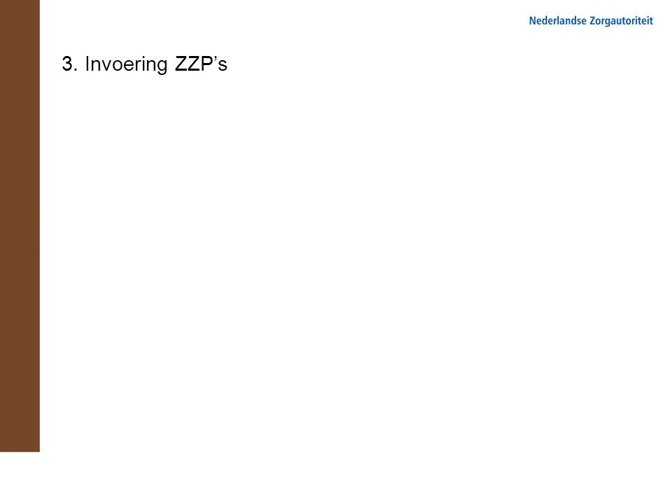 3. Invoering ZZP's