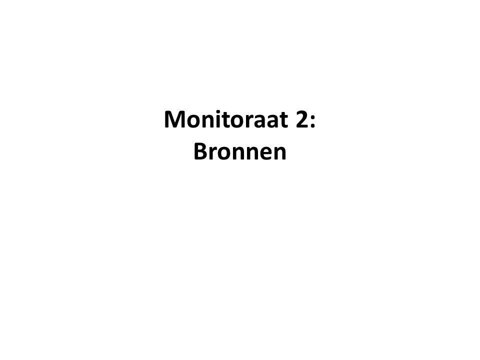 Monitoraat 2: Bronnen