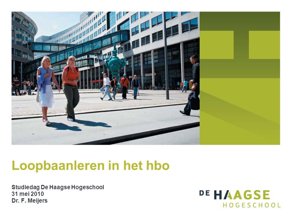 Loopbaanleren in het hbo Studiedag De Haagse Hogeschool 31 mei 2010 Dr. F. Meijers