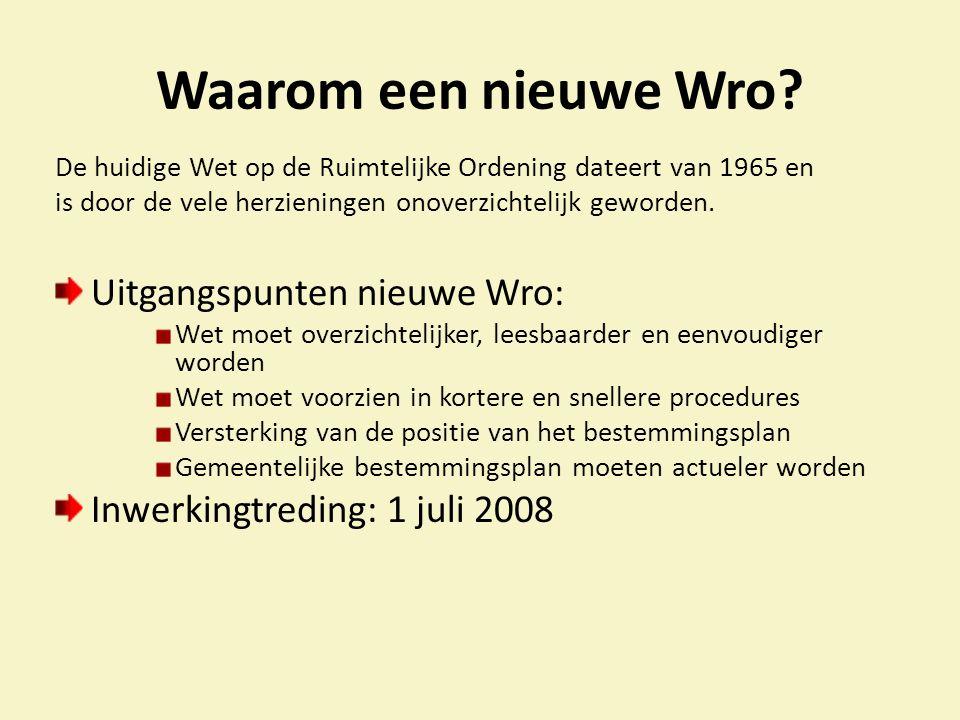 Waarom een nieuwe Wro.