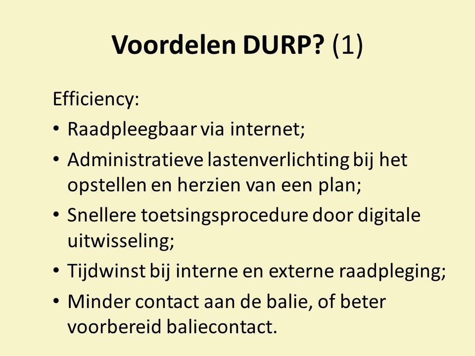 Voordelen DURP.
