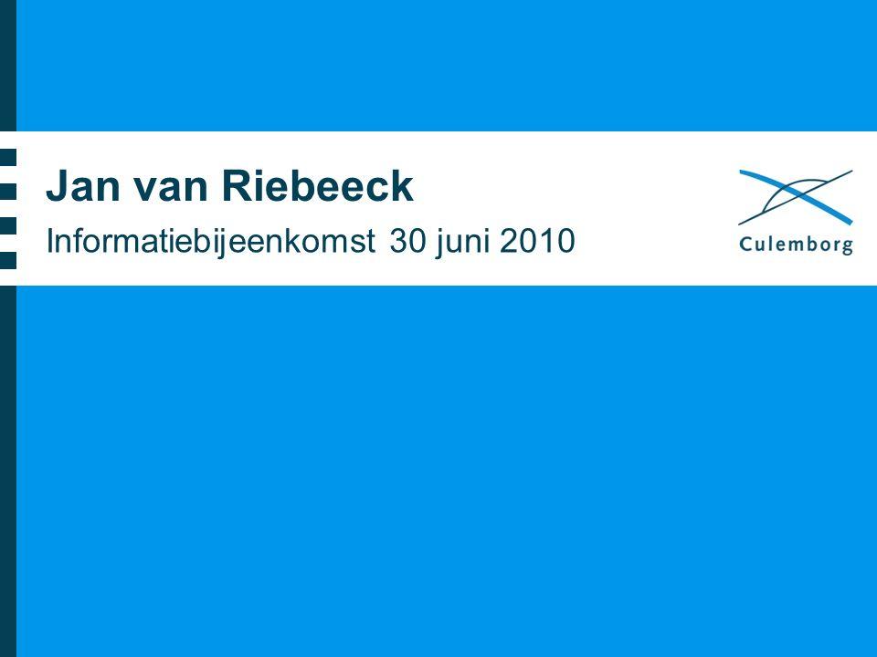 Jan van Riebeeck Informatiebijeenkomst 30 juni 2010