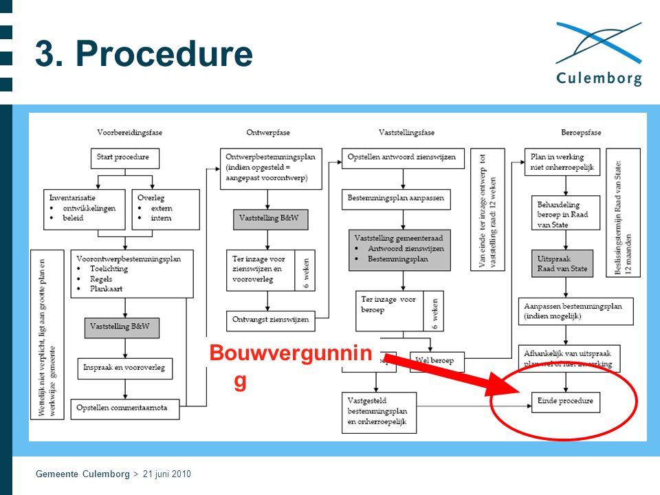 Gemeente Culemborg > 21 juni 2010 3. Procedure Bouwvergunnin g