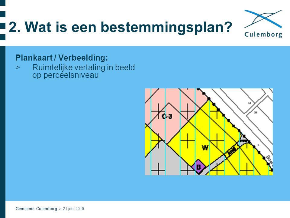 Gemeente Culemborg > 21 juni 2010 2. Wat is een bestemmingsplan.