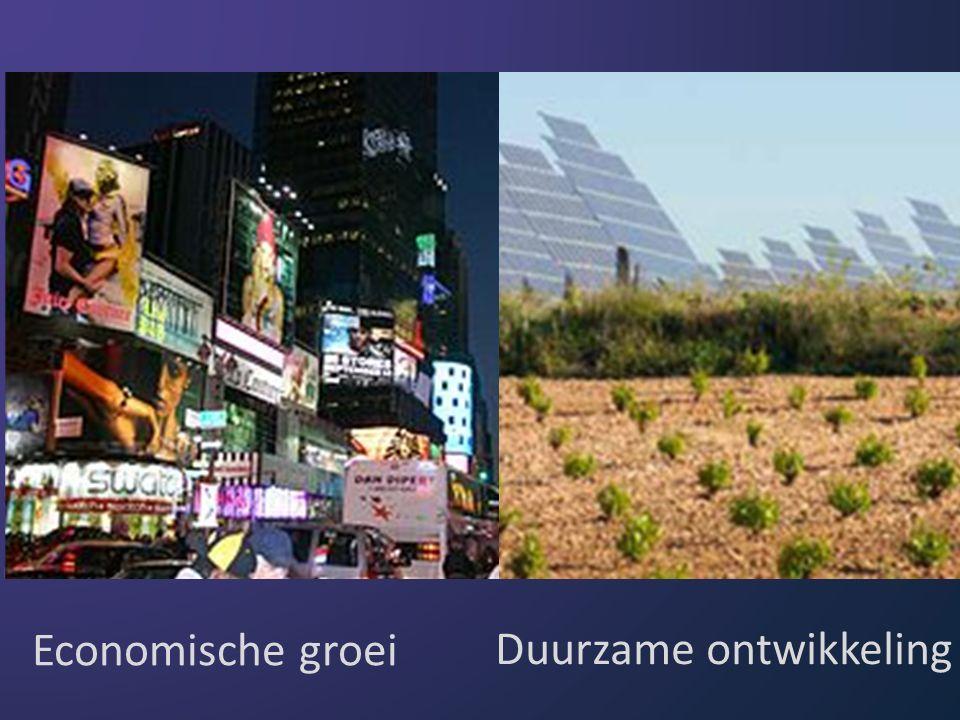 Producten Diensten Processen Economische groei Duurzame ontwikkeling