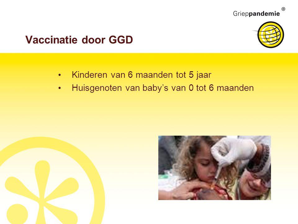 Vaccinatie door GGD Kinderen van 6 maanden tot 5 jaar Huisgenoten van baby's van 0 tot 6 maanden