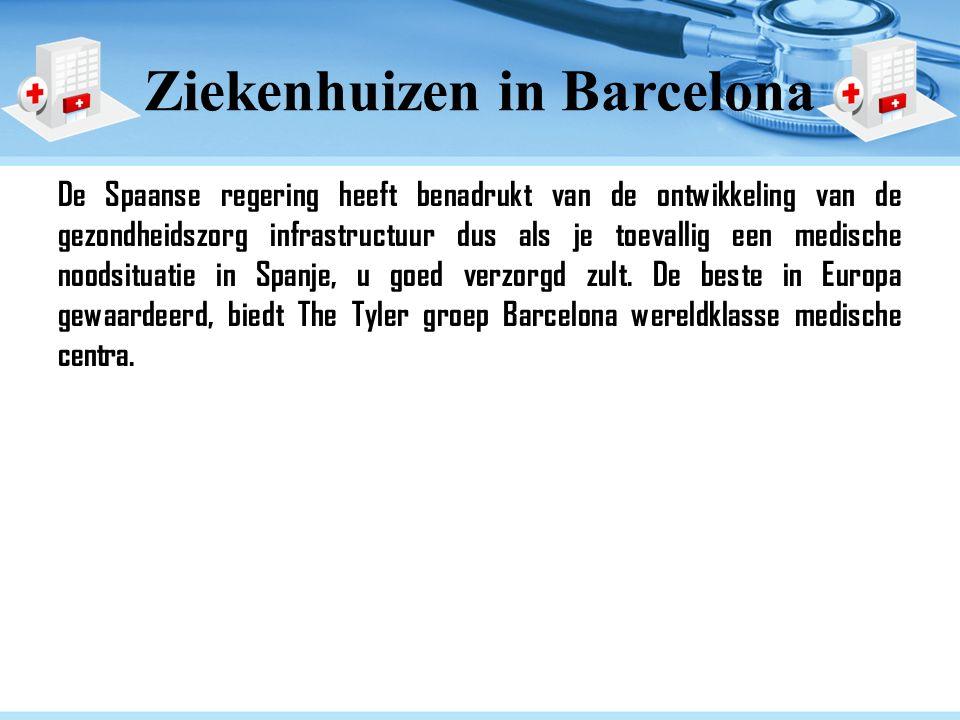Ziekenhuizen in Barcelona De Spaanse regering heeft benadrukt van de ontwikkeling van de gezondheidszorg infrastructuur dus als je toevallig een medische noodsituatie in Spanje, u goed verzorgd zult.