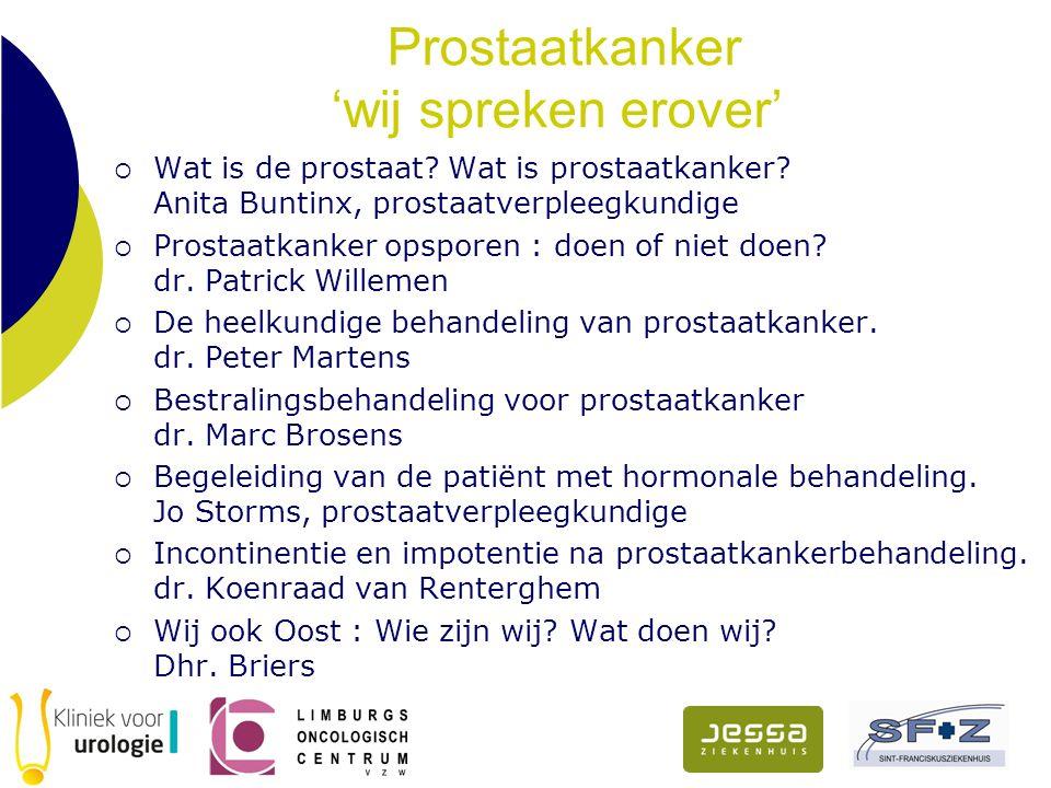 Prostaatkanker 'wij spreken erover'  Wat is de prostaat.