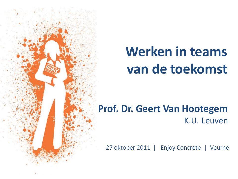 Werken in teams van de toekomst Prof. Dr. Geert Van Hootegem K.U.