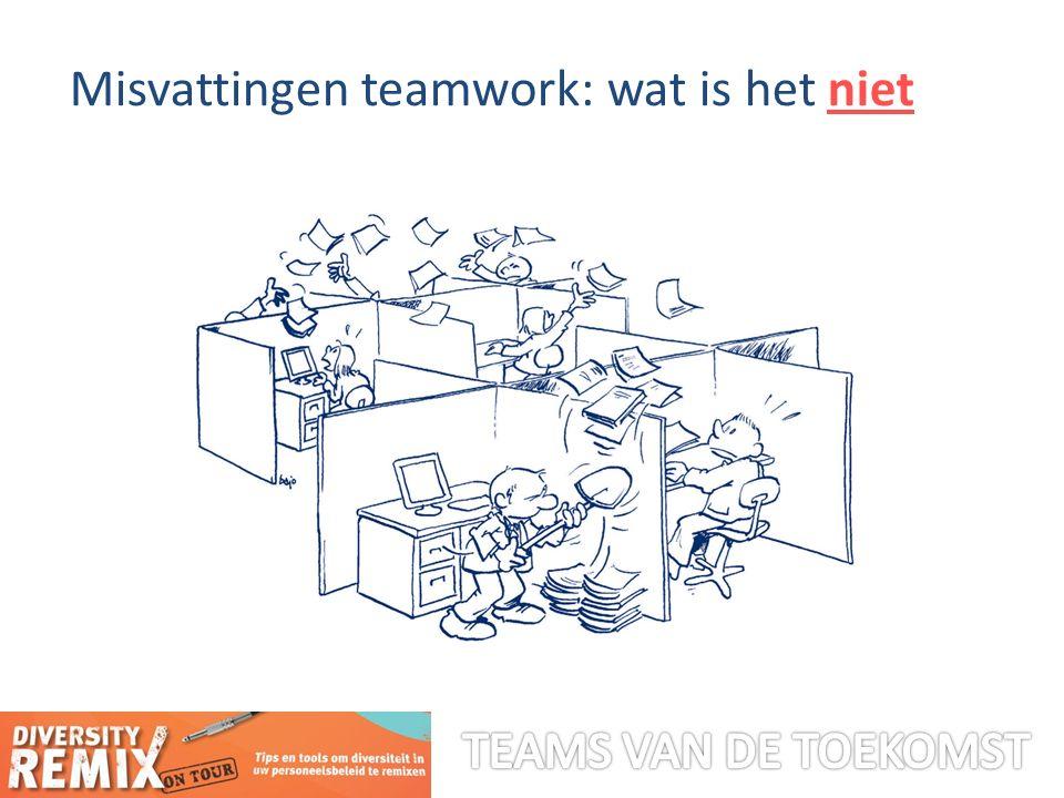 Misvattingen teamwork: wat is het niet