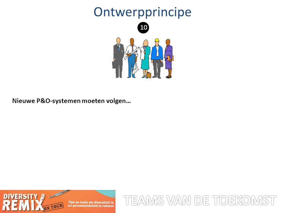 Nieuwe P&O-systemen moeten volgen… Ontwerpprincipe 10