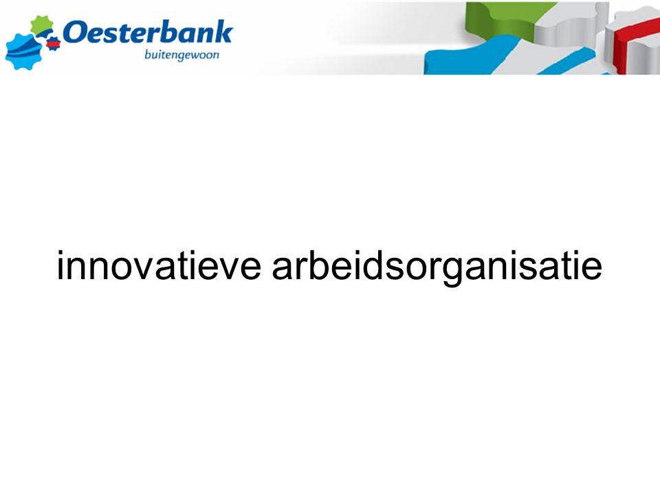 profiel Oesterbank - maatschappelijke rol : tewerkstelling doelgroep – 400 medewerkers - geen eigen product - verdedigen van imago - verlies grote reeksen : lage loon landen - niveau doelgroep dalend ; eisen klanten stijgend