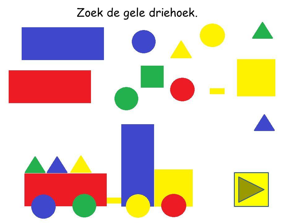 Zoek de blauwe driehoek.