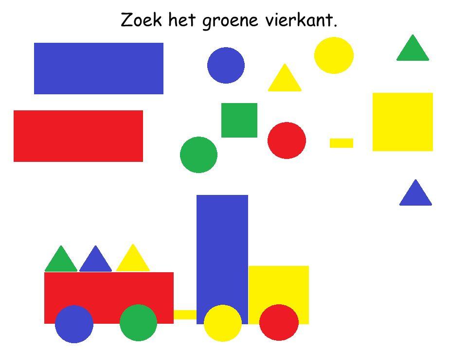 Zoek de gele driehoek.