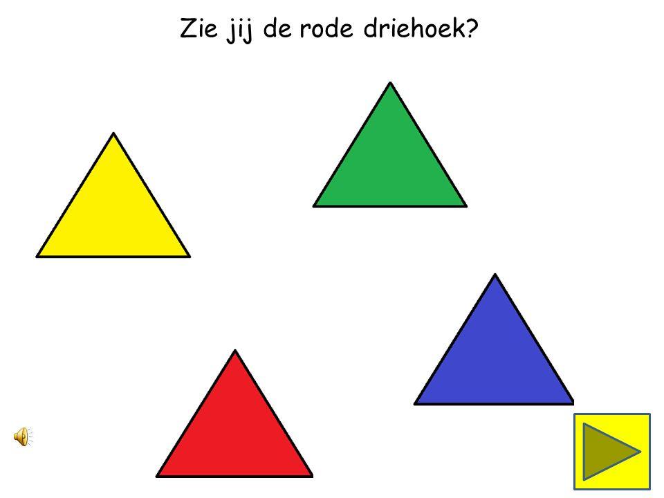 Zie jij de groene driehoek