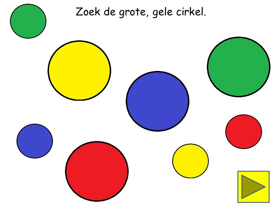 Zoek de kleine, rode cirkel.