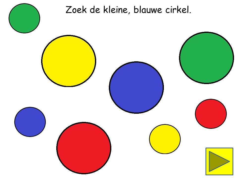 Zoek de grote, gele cirkel.