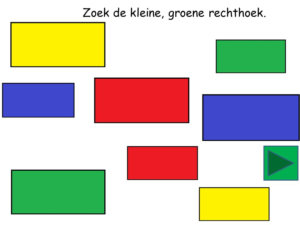 Zoek de grote, groene driehoek.