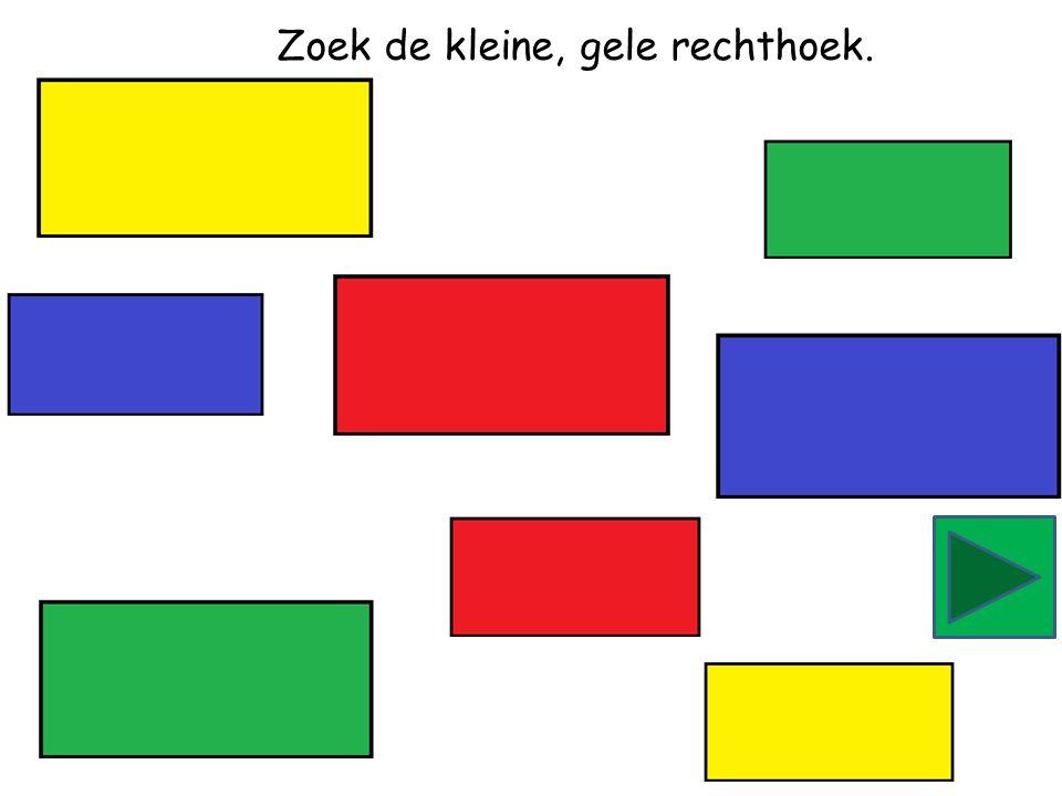 Zoek de kleine, groene rechthoek.