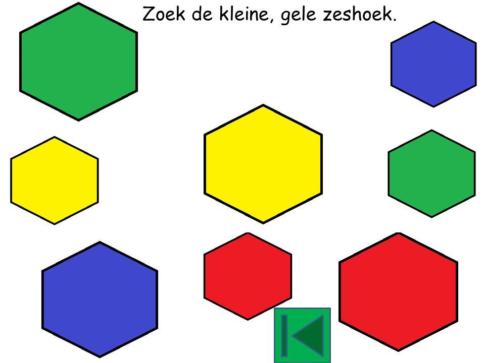 Zoek de kleine, groene zeshoek.