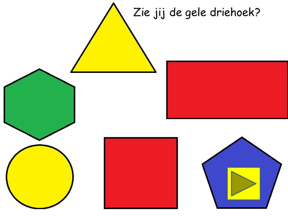 Zie jij de rode driehoek
