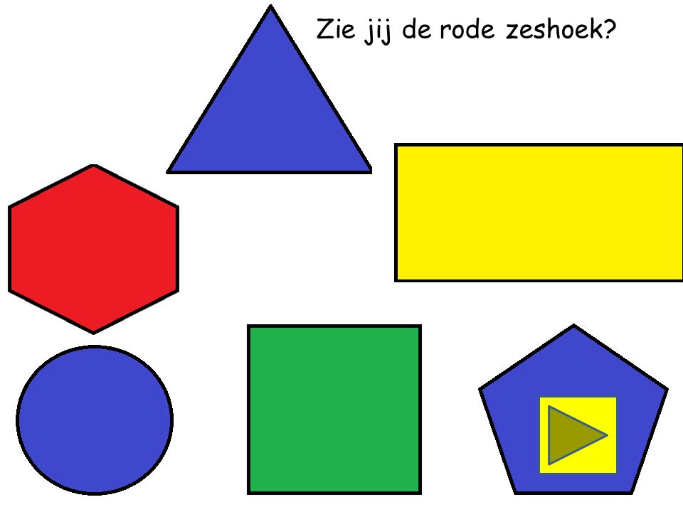 Zie jij de rode vierkant