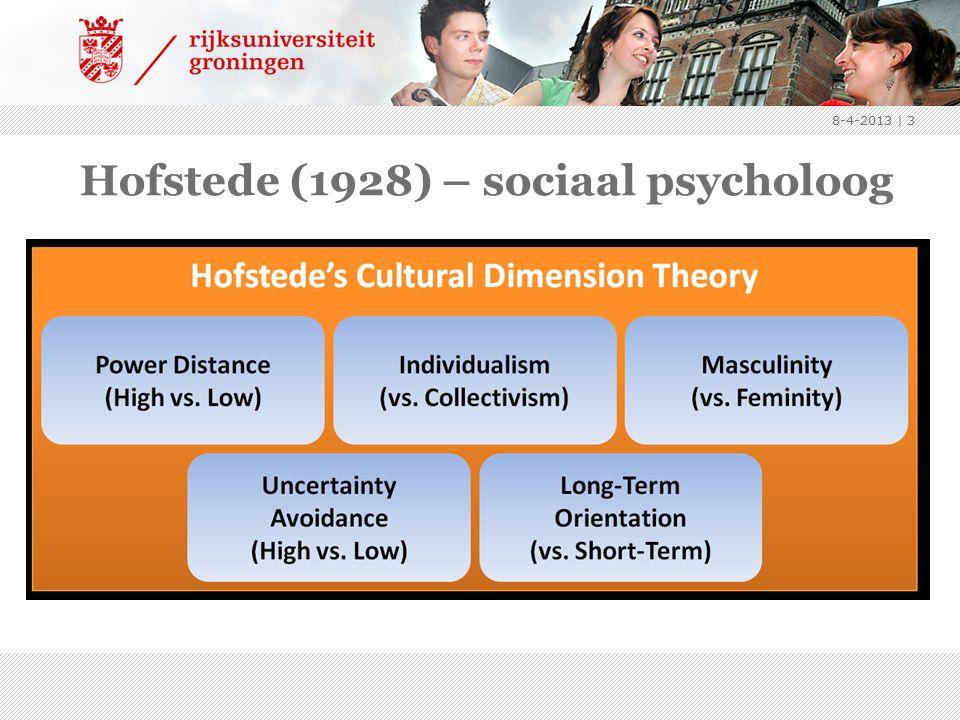 Hofstede (1928) – sociaal psycholoog 8-4-2013 | 3
