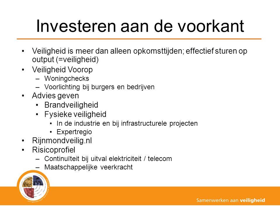 Visie VRR De VRR verleent, samen met haar partners, hulp waar dat nodig is: 24/7 Investeren in veiligheid aan de voorkant: advies en voorlichting Slimme repressie Efficiënter werken, duurzaam, klantgericht en transparant