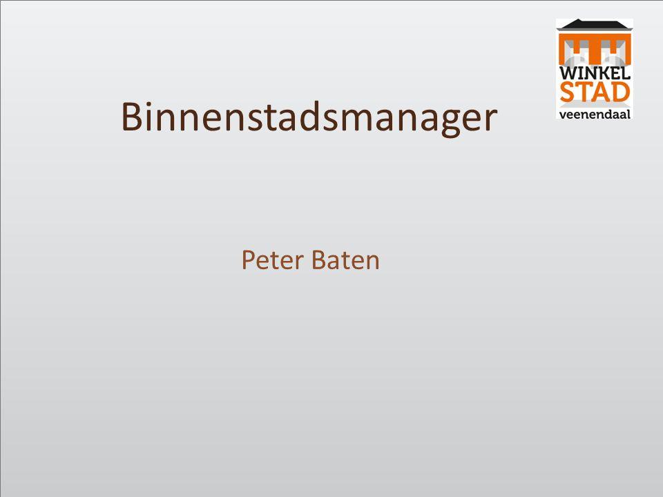 Binnenstadsmanager Peter Baten