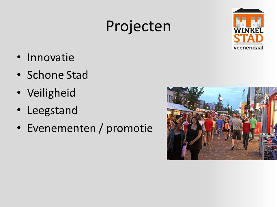 Projecten Innovatie Schone Stad Veiligheid Leegstand Evenementen / promotie