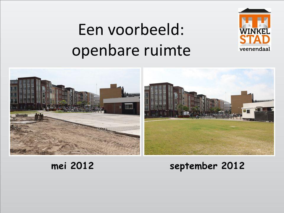 mei 2012september 2012 Een voorbeeld: openbare ruimte
