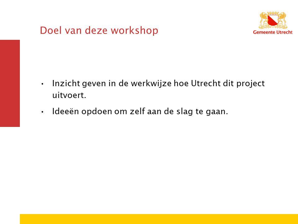 Utrechtse situatie Samenwerking 9 sportbonden 52 verenigingen 2 zorgtrajecten 15 eigen trajecten Investeren in de krachtwijken Nadruk meisjes 12+ Creëren van randvoorwaarden Wegnemen financiële drempels