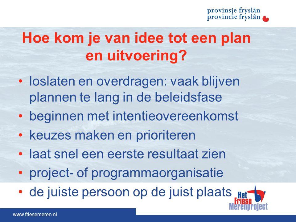 Hoe kom je van idee tot een plan en uitvoering.