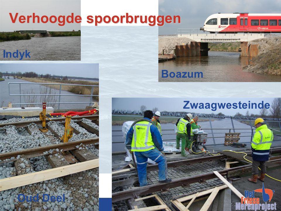 www.friesemeren.nl Verhoogde spoorbruggen Oud Deel Indyk Zwaagwesteinde Boazum