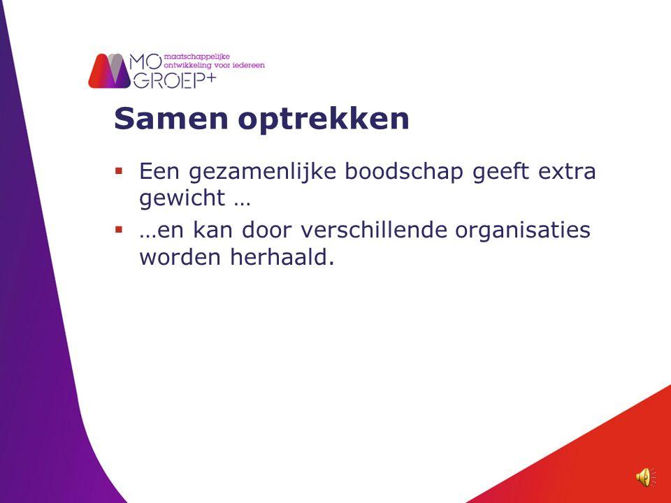 Samen optrekken Gemeente WelzijnZorg Onderwijs WerkWonen