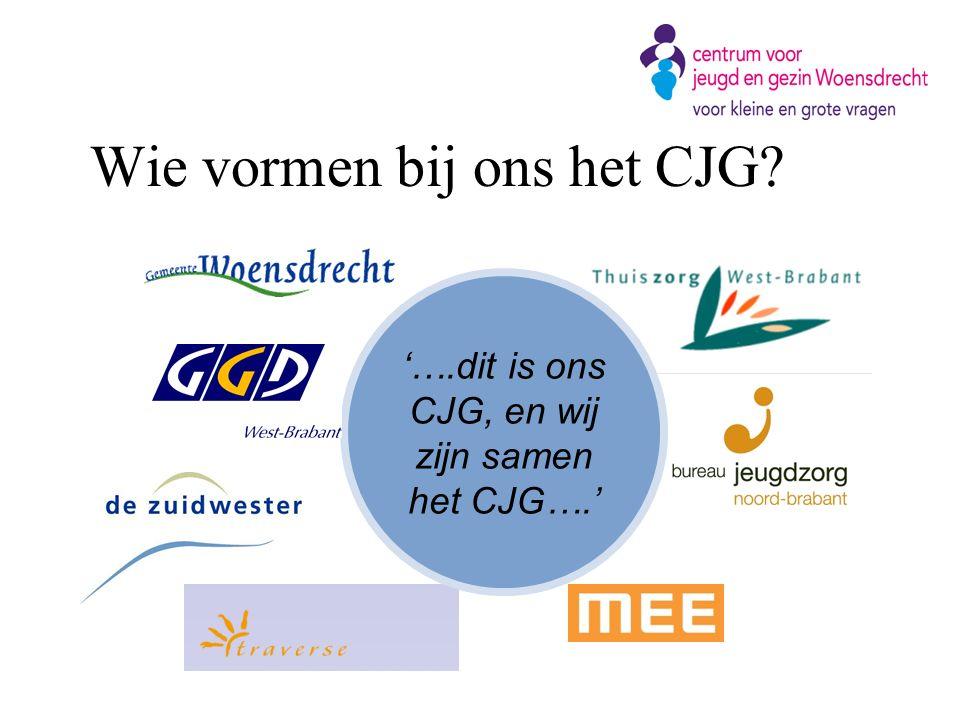 Wie vormen bij ons het CJG? '….dit is ons CJG, en wij zijn samen het CJG….'