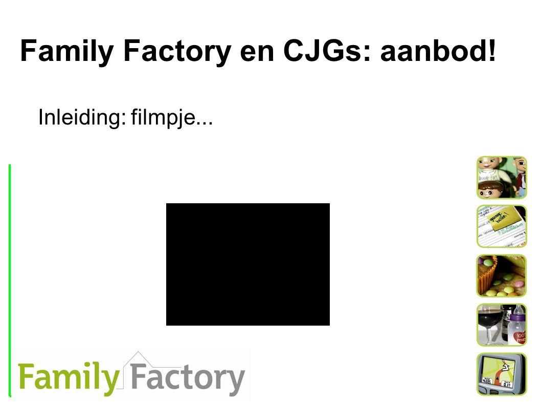 Family Factory en CJGs: aanbod! Inleiding: filmpje...