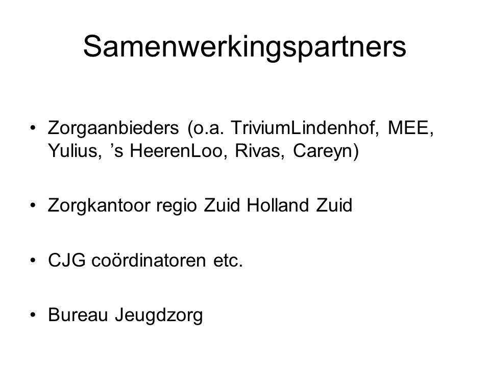 Samenwerkingspartners Zorgaanbieders (o.a.